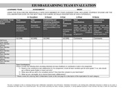 REP LEARNING TEAM Evaluation Form