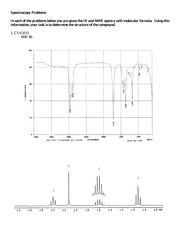 Spectroscopy Problems_IR NMR_questions