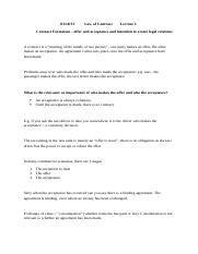 law of contract - lecture 2 - 03.10.13.docx