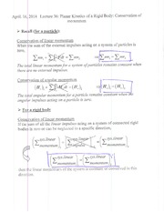 Lecture 36 notes update and example solutions