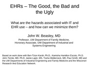 EHRs - Good, Bad, Ugly 2012 handout