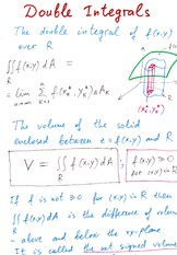 Lecture Notes on Double Intergrals