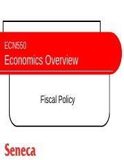 ECN550 - Fiscal Policy - Ch. 11(1)