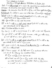 Lecture on Definitions from Calculus