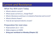 Class 062 - Current, Resistance, Power