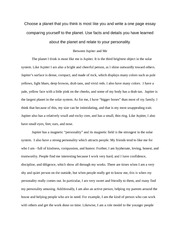 Rough Draft - Planet Writing Assignment