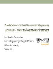 Lecture-Week 10 - Water and Wastewater Treatment(1)