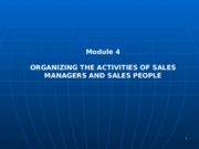 Chapter 4. Sales Organization Structure and Salesforce Deployment