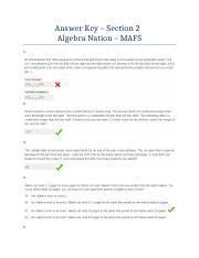 Answer Key Section 4 MAFS.docx - Answer Key Algebra Nation ...