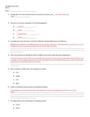 OIS 5000 Quiz 1 - Answer Key