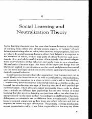 Social Learning and Neutralization Theory