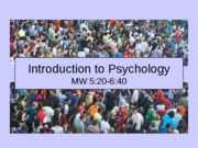 Chapter 1 Post to BB Introduction to Psychology-1