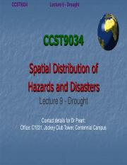 Lecture 9 Drought