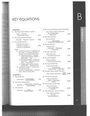 Appendix B of textbook (The formula sheet to be used in final examination for your reference)