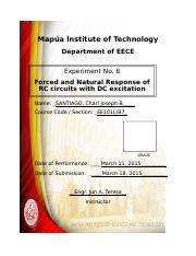 E106 - Forced and Natural Response of RC circuits with DC excitation.docx