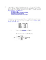 FIN 417- Exam #2 Solutions