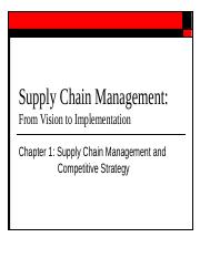 Wk 1-2 Supply Chain Management CompetitiveStrategy v2