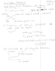 Lecture 12. Blackboard notes titration