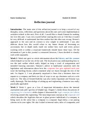 corporate reflection journal