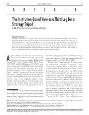 02_The institution-based view