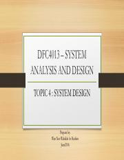 SYSTEM DESIGN (INTERFACE)