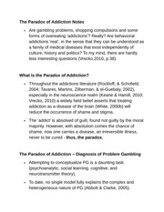 The Paradox of Addiction Notes