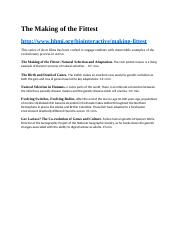 Quiz #2 -The Making of the Fittest- 5 short videos.docx