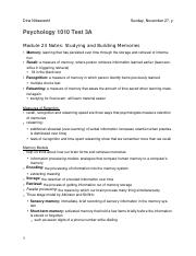 PSYCH 1010 Test 3A Notes (Module 23,25,26-28) .docx