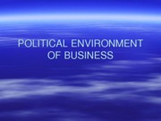 POLITICAL ENVIRONMENT OF BUSINESS (Presentation)