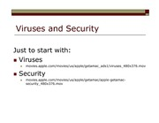 Viruses and Security