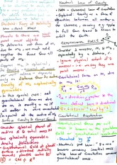Gravitational Force and Acceleration Exam Revision Notes