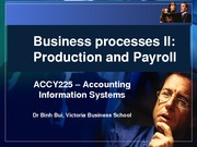 ACCY 225 Week 10 Production and payrol processes