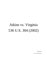 Atkins v. Virginia Case Brief