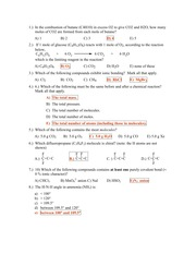 Chemistry 1A - Pines - Midterm 1 Sample B
