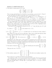 Problem Set 4 Solution Fall 2010 on Linear Algebra