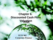 Corporate Finance Lecture 3,4,5_Chapter 6