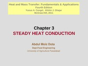 Chapter 3 - Steady Heat Conduction