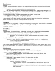 Philosophy - Study Guide