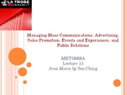 Marketing Management Lecture 13