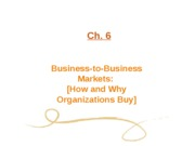 Ch. 06 Business-To-Business Markets