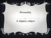 Personality Chapter 1