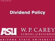 FIN302 14 Dividend Policy