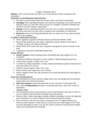Ch. 8 Summary Notes
