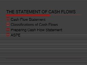 Chapter 5 - Statement of Cash flow