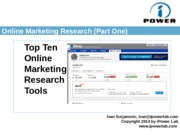 3.Online marketing Research