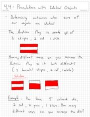 Permutations and Identical Objects Homework Examples