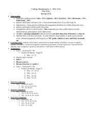 College Mathematics - Day Four Outline