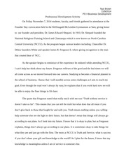 Professional Development Example Essay