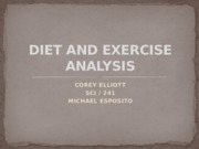 DIET AND EXERCISE ANALYSIS