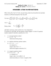 6-Hydrogen Atom Wavefunctions